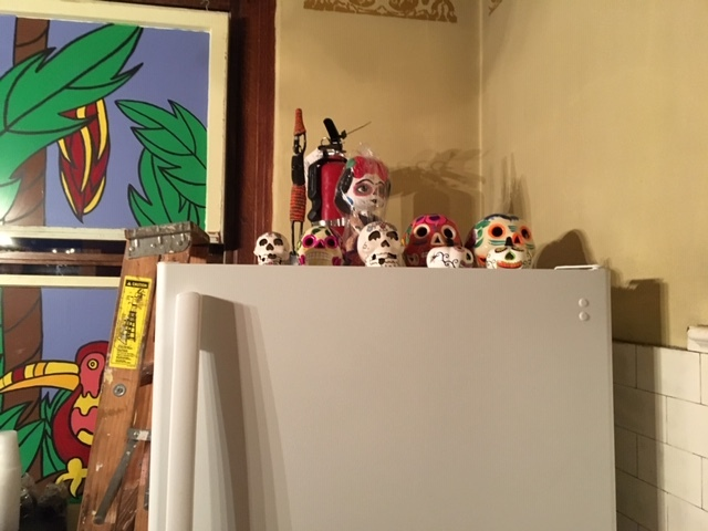 day of the dead skulls The Parador Inn