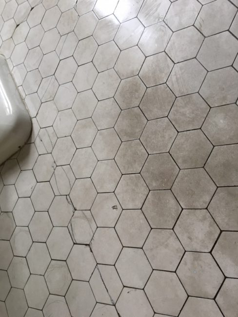 100 year old ceramic tile